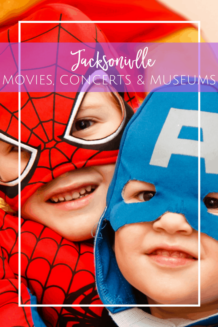 Free summer movies, concerts and museum entry in Jacksonville, Florida for kids and families.