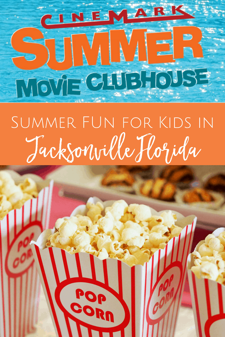 Cinemark Summer Movie Clubhouse $1 summer movies for kids in Jacksonville, Florida
