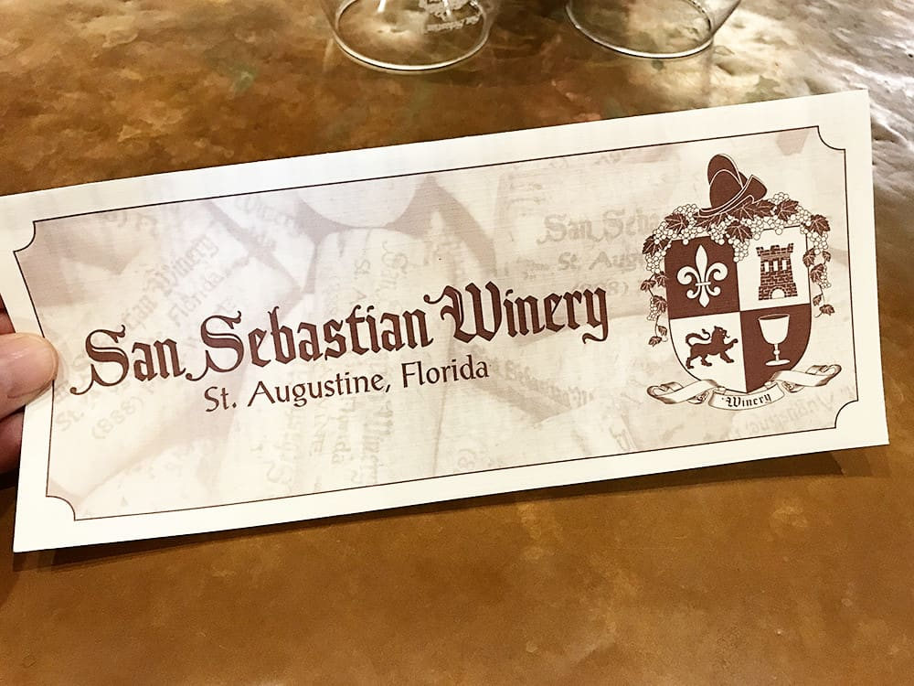 Winery Tour & Tasting in St. Augustine